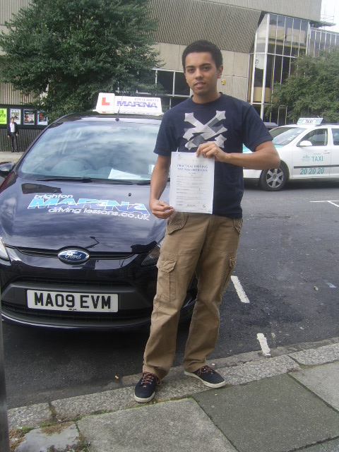 Harry Billington from Hove, passed first time