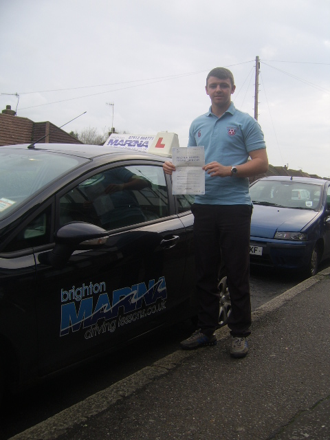 Charlie Toth from Hove, passed first time
