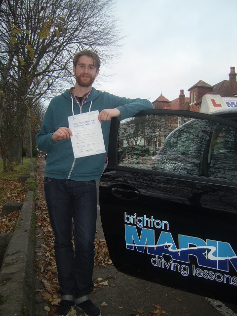 Alex Camp from Brighton, passed first time