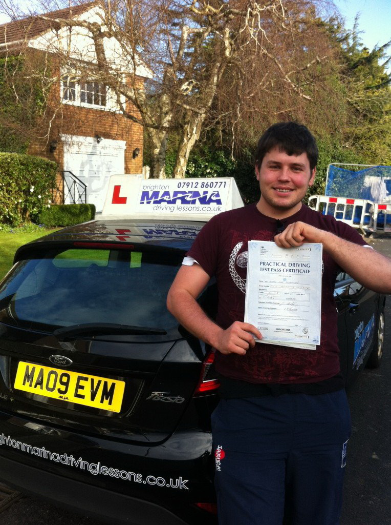 Andrew Rowlandson from Hove, passed first time