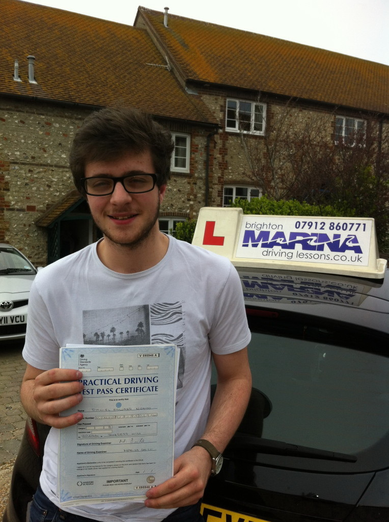 Daniel Nonoo from Brighton, passed first time
