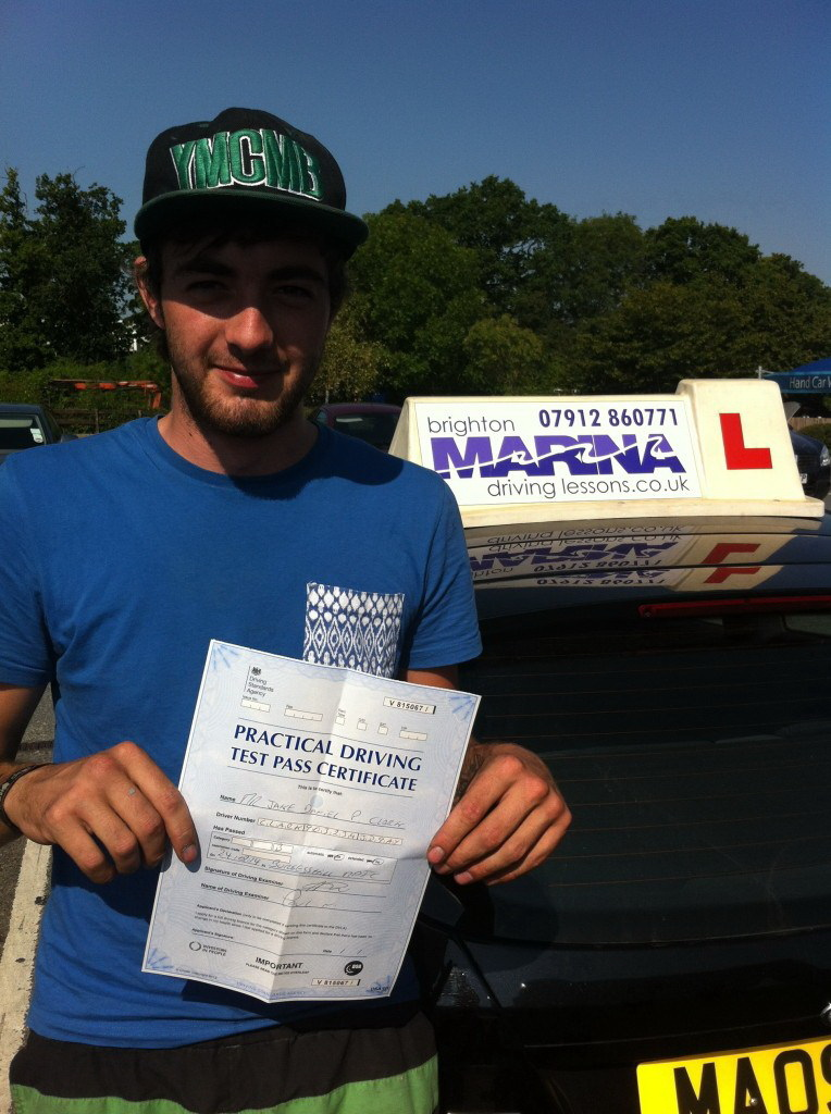Jake Clark from Brighton, passed first time