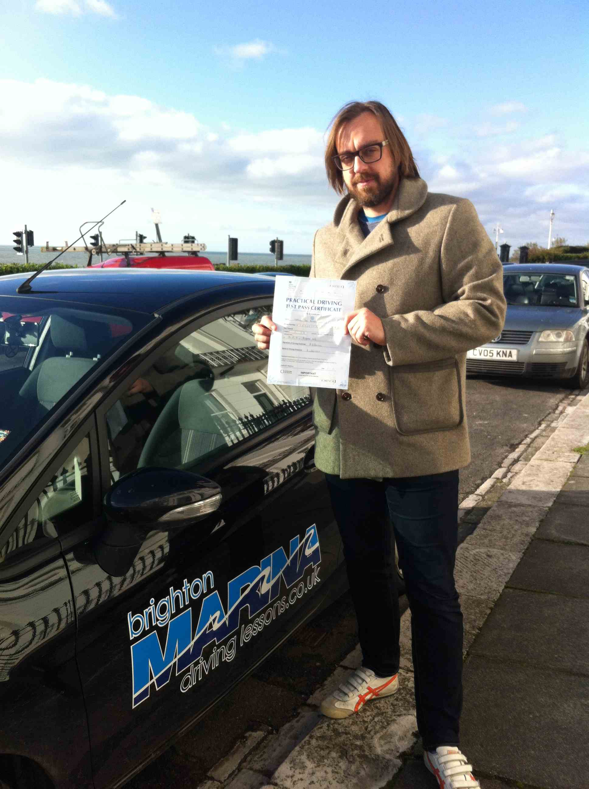 Matt Hanson from Brighton, passed first time