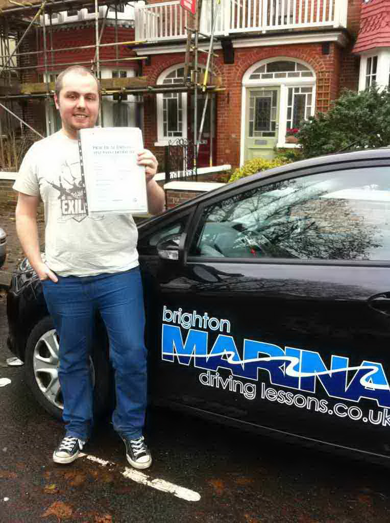 Rhys Cox from Hove, passed first time