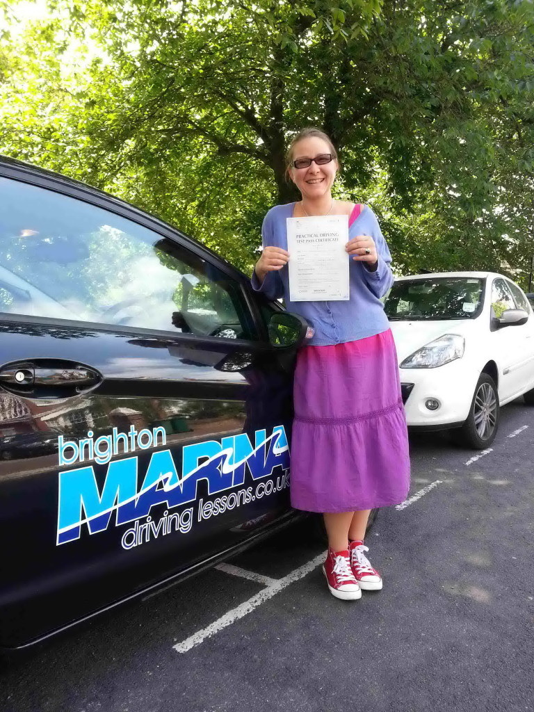 Sabrina Quaino from Brighton, passed first time