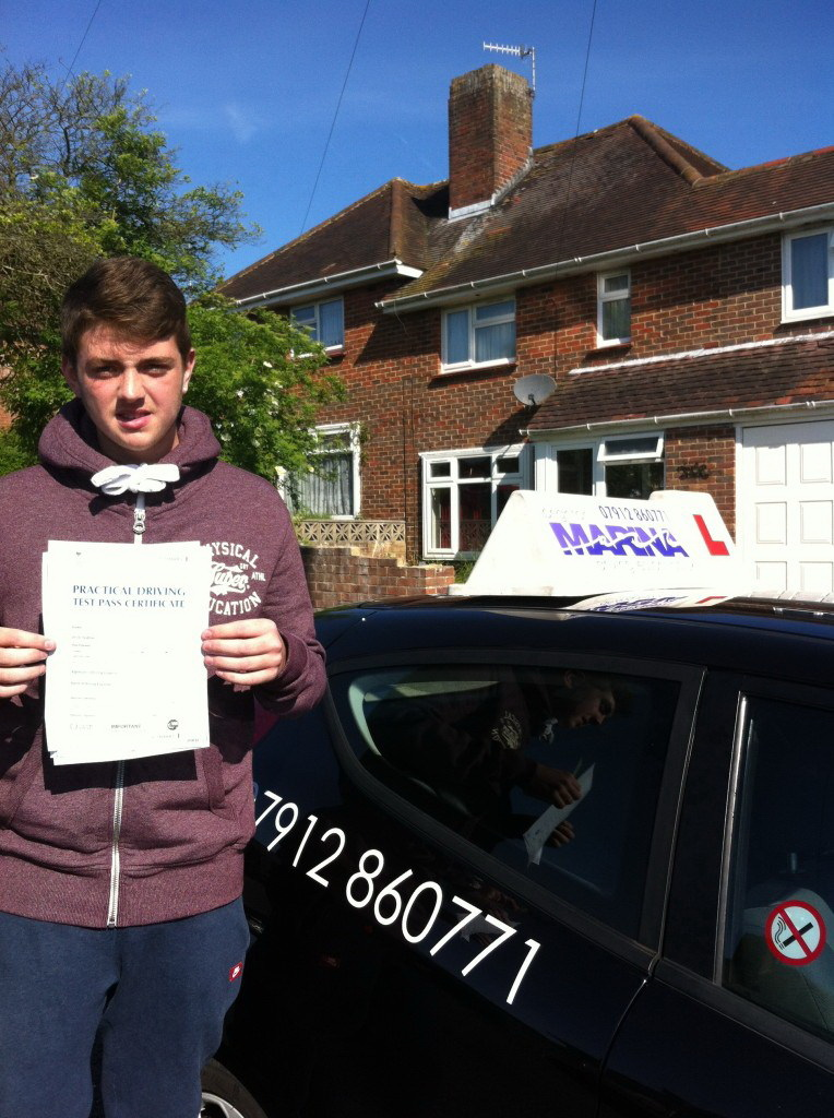 Charlie Ford from Brighton, passed first time