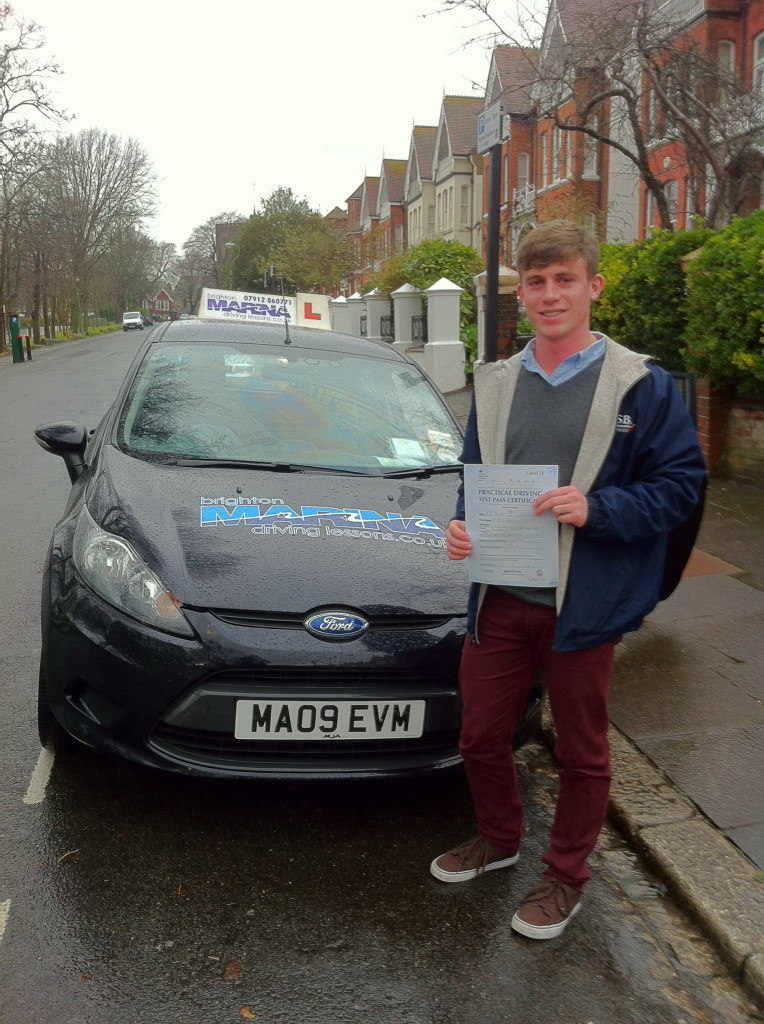 Harry Atkinson from Brighton, passed first time